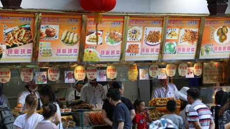 Straßenküche China Shanghai