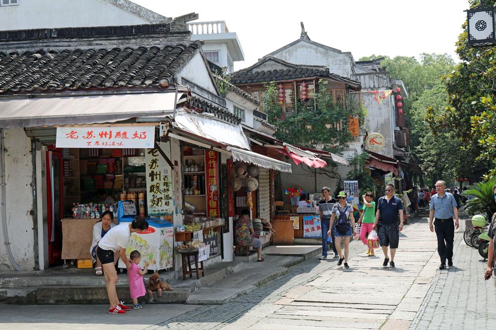 Viele traditionelle Steinhäuser im klassischen chinesischen Stil sind in Mudu zu sehen