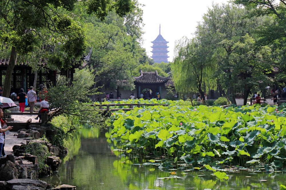Der Garten des bescheidenen Beamten ist der größte Garten der klassischen chinesischen Gärten in Suzhou