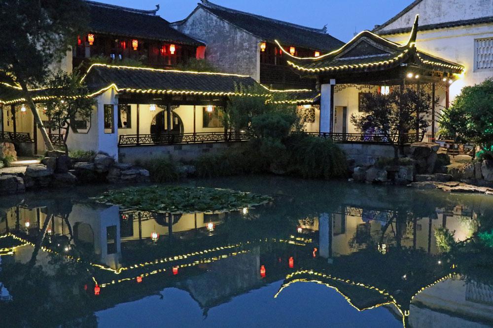 Der Garten des Meisters der Netze in Suzhou stammt vermutlich aus dem 13. Jahrhundert