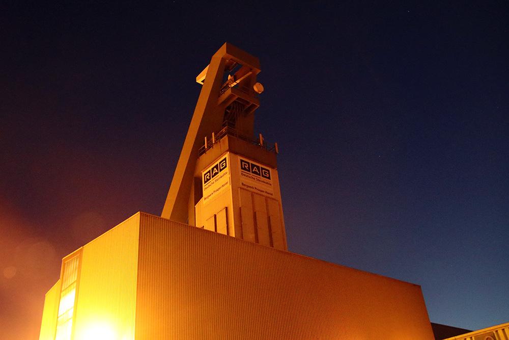 Schacht 10 Zeche Bergwerk Prosper Haniel in Bottrop im Ruhrgebiet