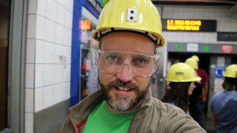 Grubenfahrt im Bergwerk Zeche Prosper Haniel im Ruhrgebiet