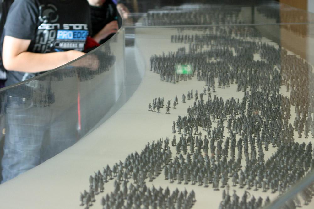 Im Museum veranschaulicht ein Modell, wie viele Römer einst in der Varusschlacht bei Kalkriese involviert waren