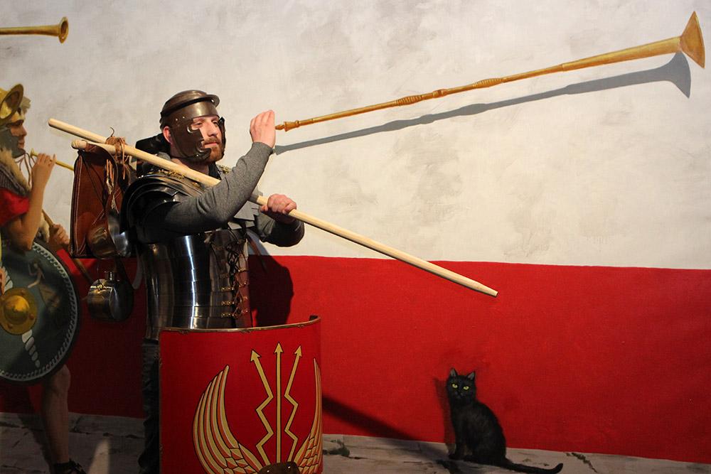 In manchen Sonderausstellungen am Ort der Varusschlacht konnten auch Besucher schon Teil der Szenerie werden