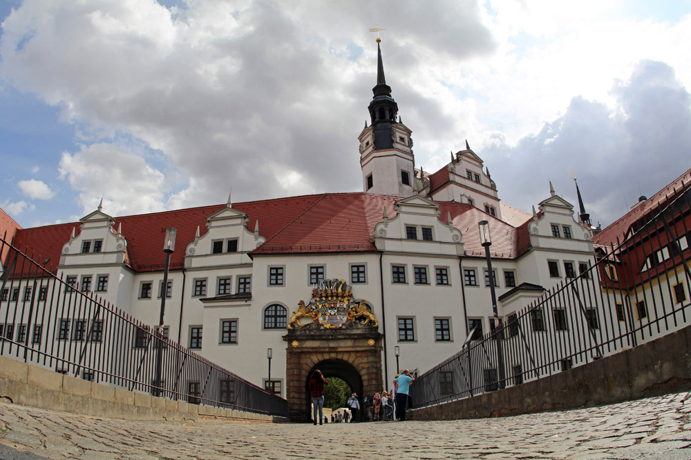 Das Schloss Hartenfels in Torgau