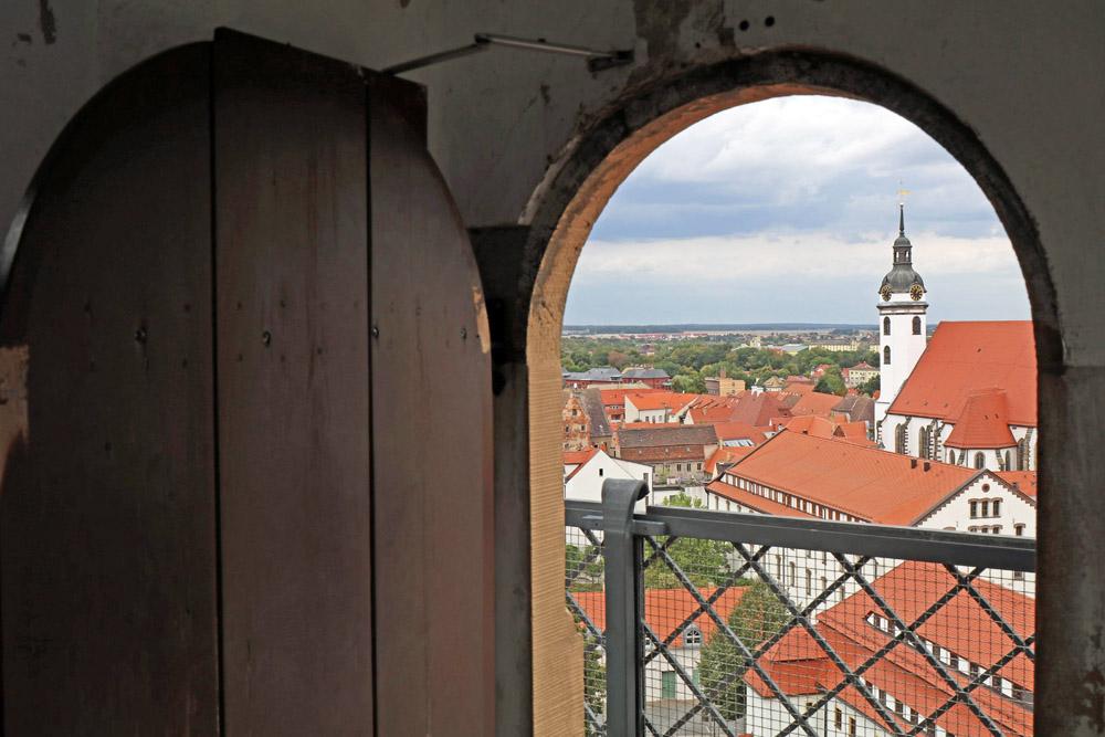 Vom Hausmannsturm des Schlosses Hartenfels in Torgau bietet sich eine tolle Aussicht