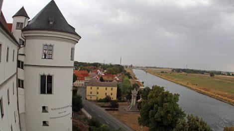 Das Schloss Hartenfels in Torgau liegt direkt an der Elbe