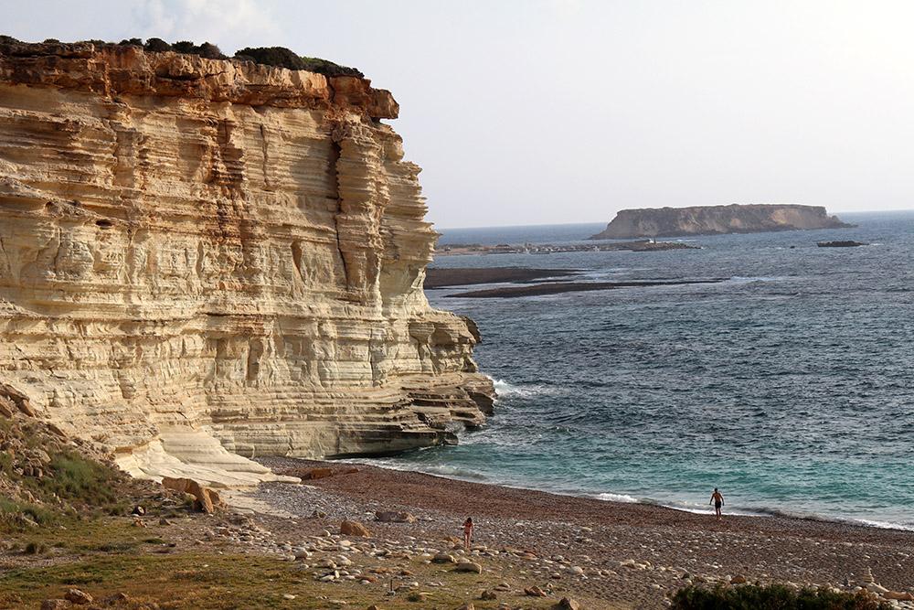 Ein Strand auf der Akamas Halbinsel auf Zypern