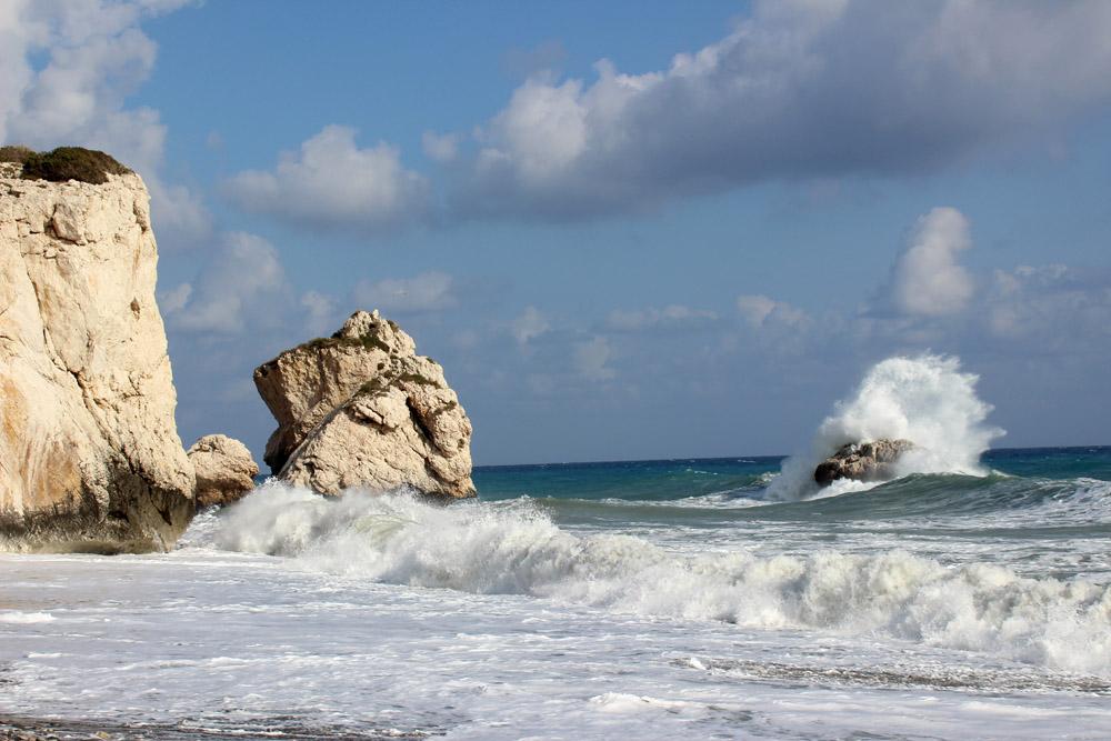 Fotos, die Lust auf Zypern machen. Hier das Meer am legendären Geburtsort der Aphrodite