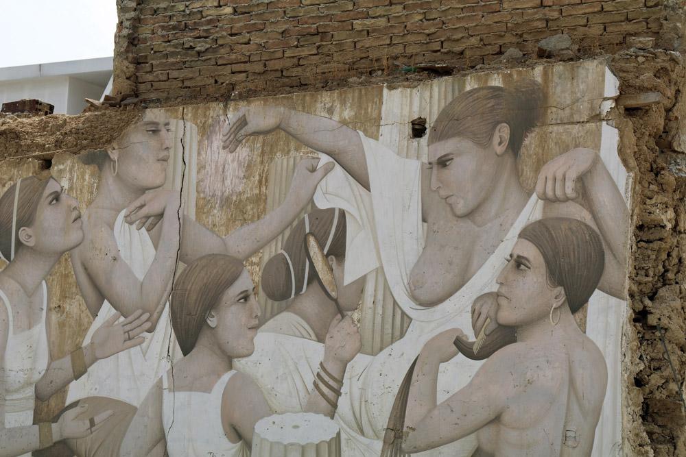 Immer wieder wird auch die zypriotische Geschichte in der Streetart in Nikosia auf Zypern thematisiert