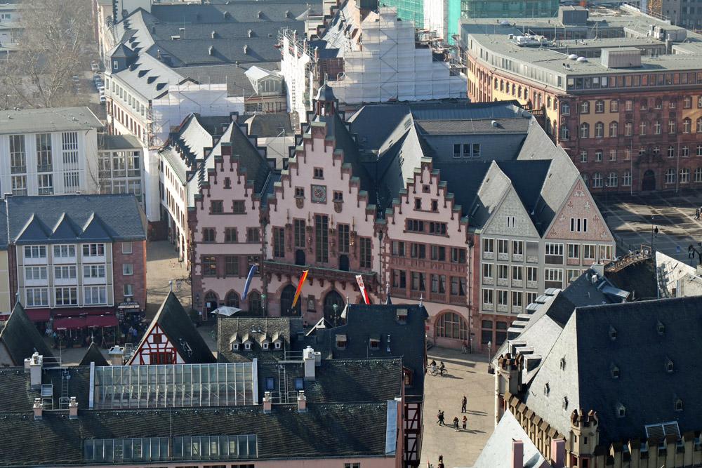 Blick zum Frankfurter Römer.
