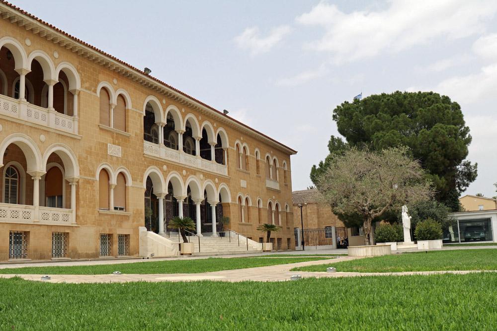 Der Bischofspalast von Nikosia auf Zypern