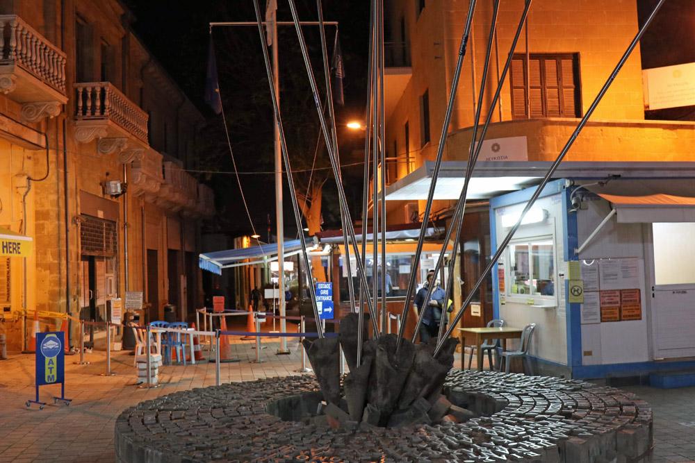 Grenzübergang in der Ledra Street in Nikosia auf Zypern