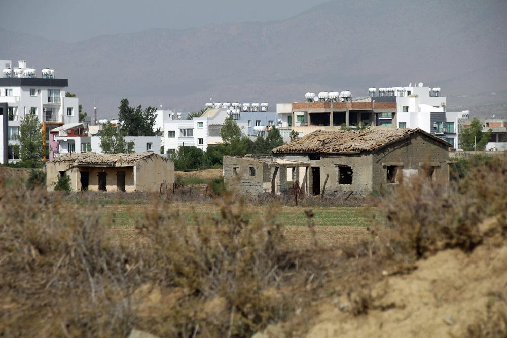 Der Großteil der Häuser in der Pufferzone steht bis heute leer