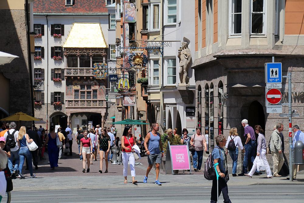 Das Goldene Dachl ist die Hauptattraktion in Innsbruck