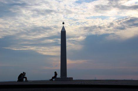 Die Sonnenuhr auf der Halde Hoheward ist ein beliebtes Motiv bei Fotografen