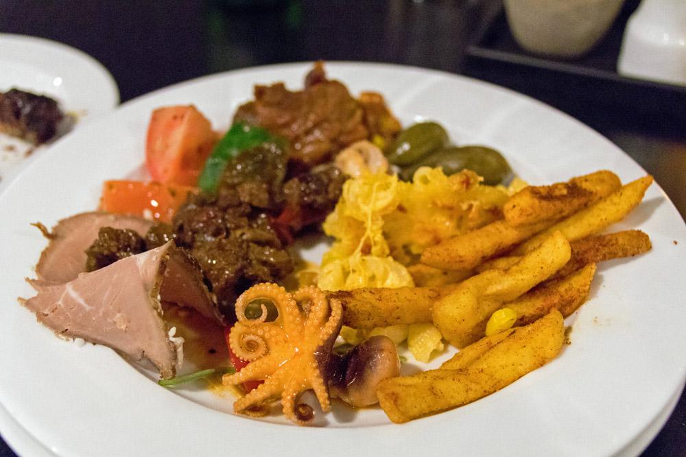 Abendessen auf der DFDS King Seaways