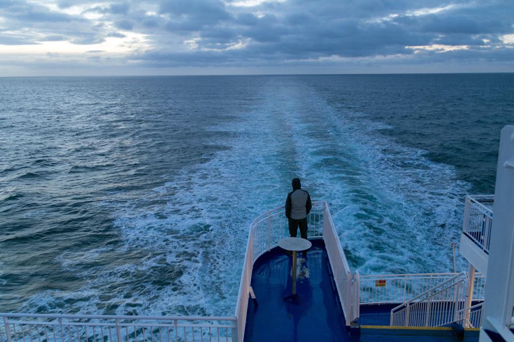 Die DFDS King Seaways auf der Nordsee während einer Minikreuzfahrt von Amsterdam nach Newcastle