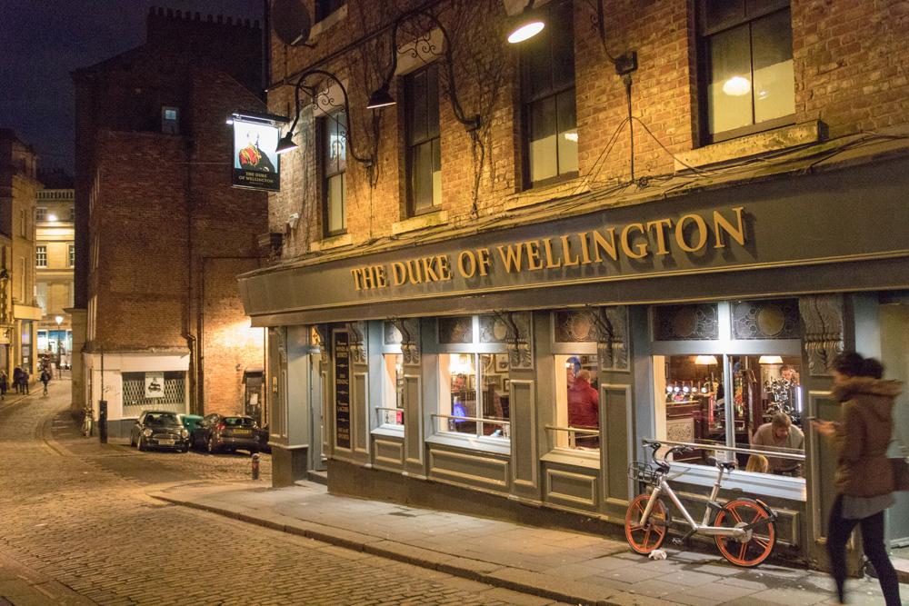 Der Pub Duke of Wellington in Newcastle