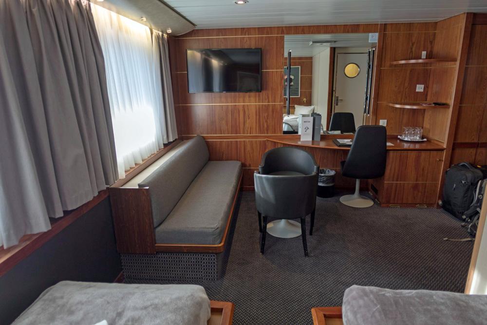 Kommodore Deluxe Kabine auf der DFDS King Seaways, die zwischen Amsterdam und Newcastle fährt