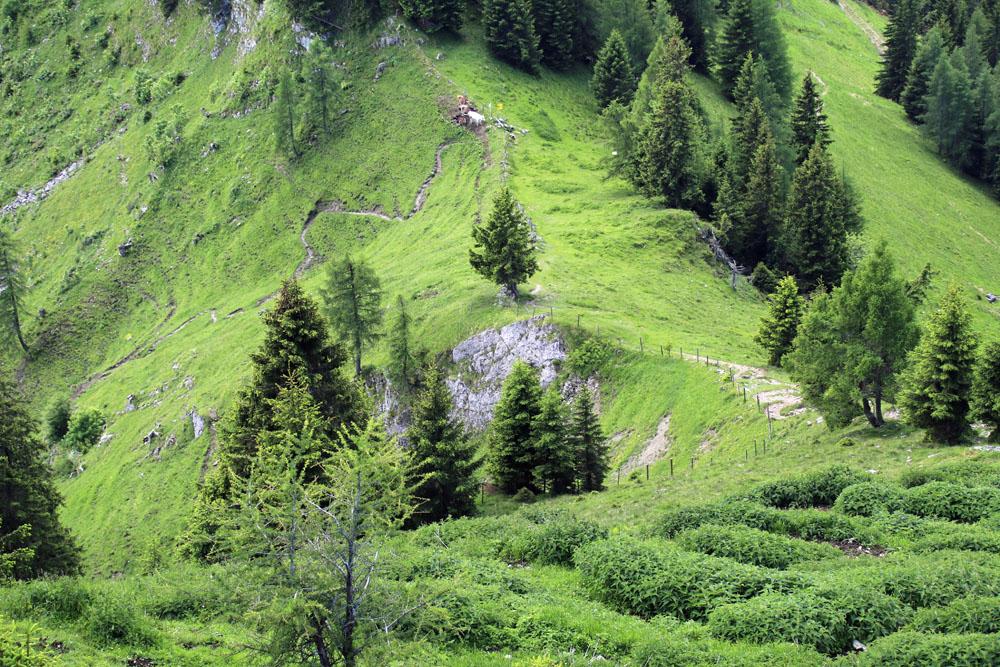 Der sattel am Heuberg in Österreich