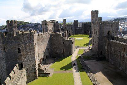 Caernarfon Castle gehört zu den schönsten Burgen in Wales