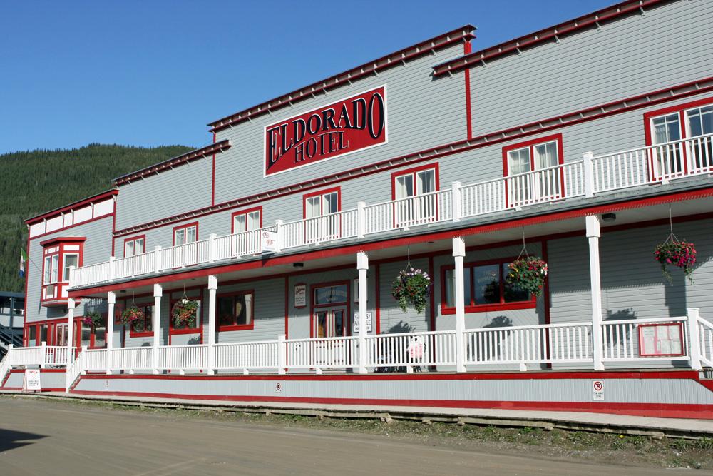 Eldorado Hotel in Dawson City im Yukon