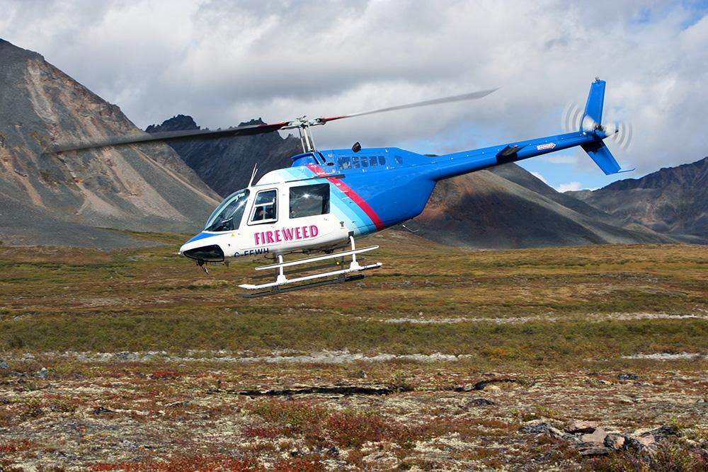 Hubschrauberrundflug im Tombstone Territorial Park im Yukon