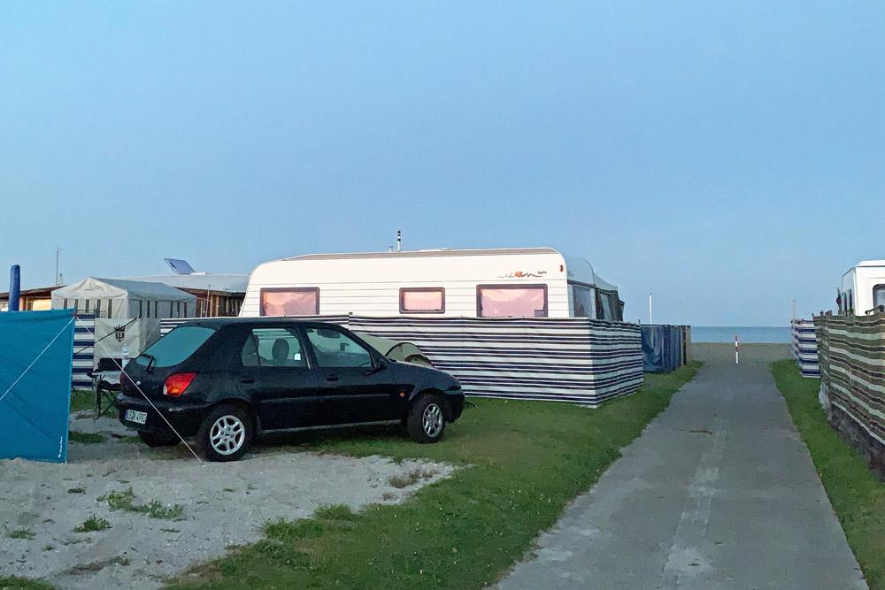 Nordsee Campingplatz in Schillig direkt am Strand