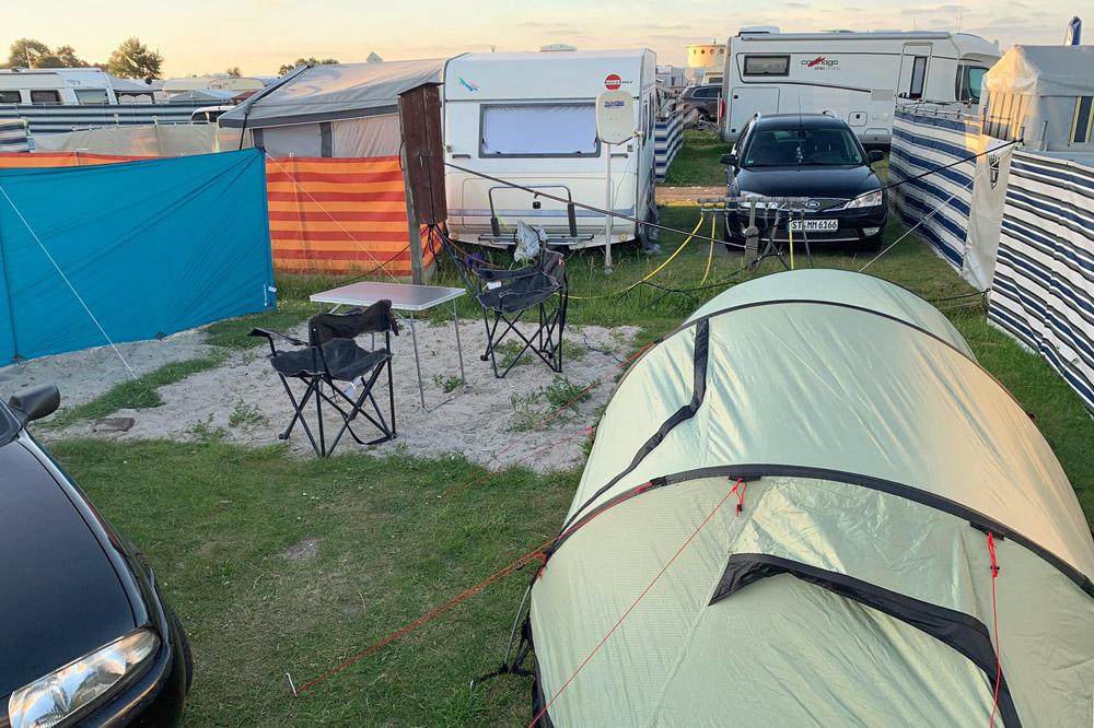 Camping in Schillig an der Nordsee mit Zelt