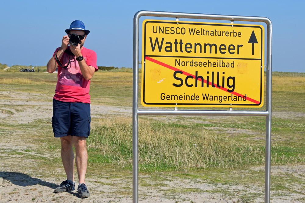Ortsschild Schillig Weltnaturerbe Wattenmeer