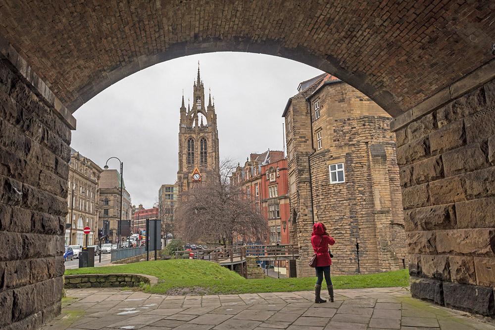 Newcastle Black Gate an der Burg