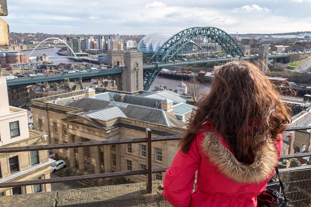 Aussicht von der Burg in Newcastle