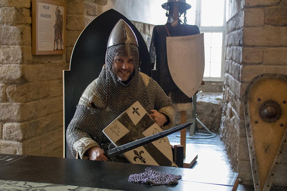 Ritter in der Burg von Newcastle in England