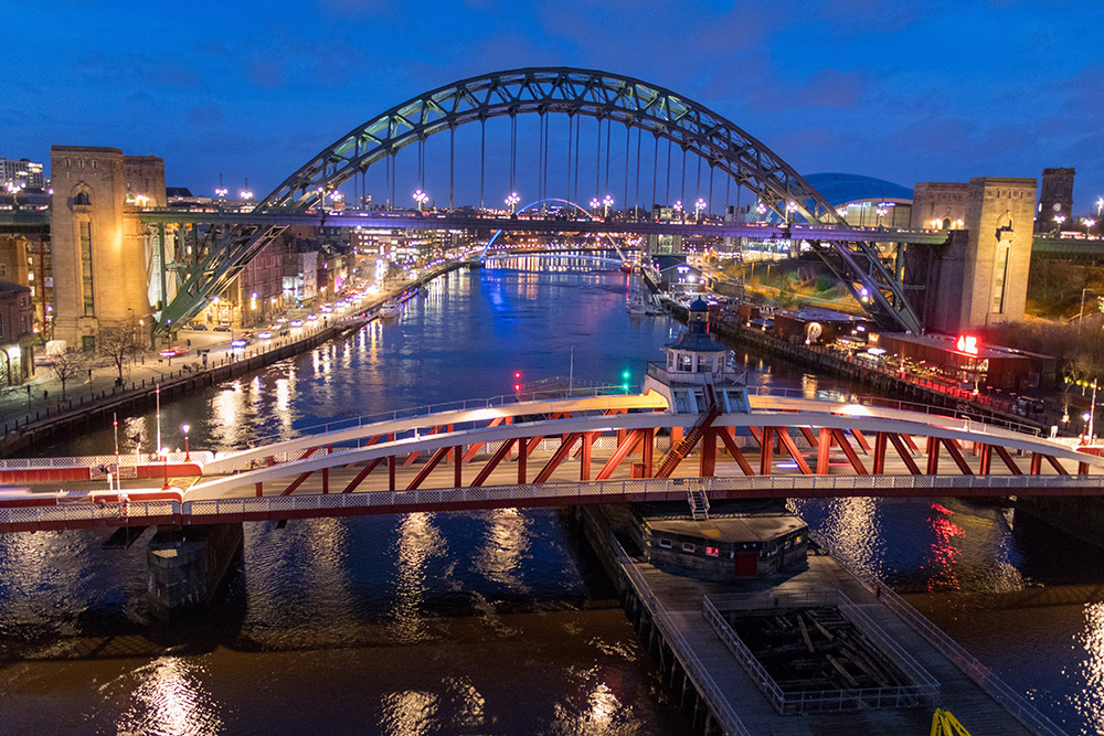 Sieben Brücken über den Tyne in Newcastle