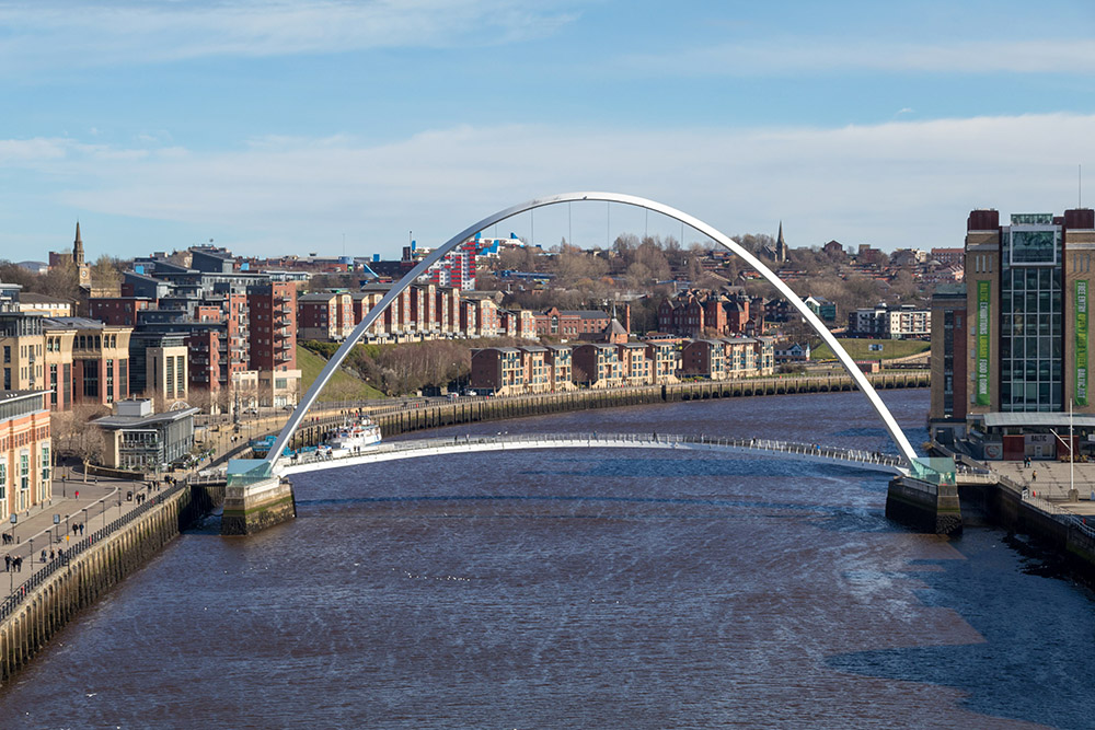 Millenium Bridge in Newcastle