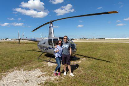 Rudflug mit einem Hubschrauber in Fort Myers Florida USA