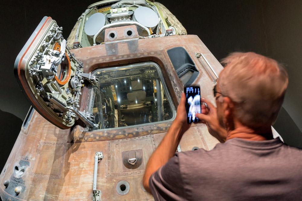 Diese Apollo Kapsel ist zum Mond geflogen.