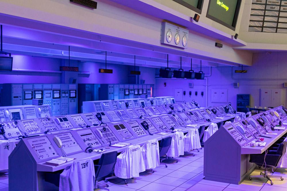 Nachbau des Apollo Kontrollraumes