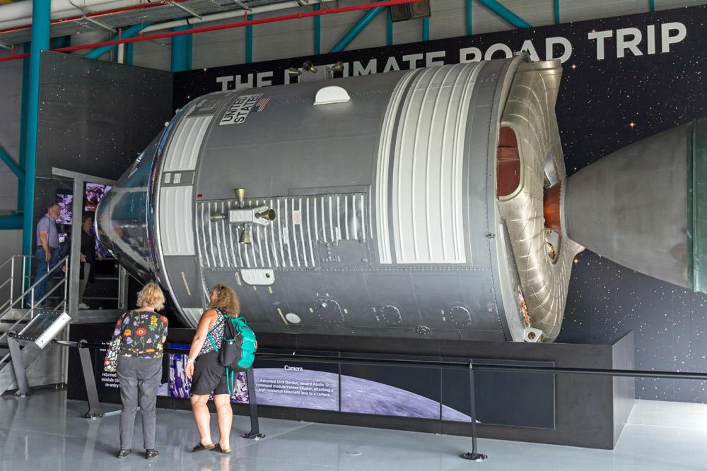 Ein Apollo Raumschiff kann im Kennedy Space Center besichtigt werden.