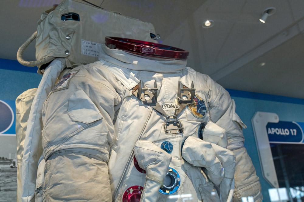 Raumanzug, mit dem Eugene Cernan auf dem Mond war.