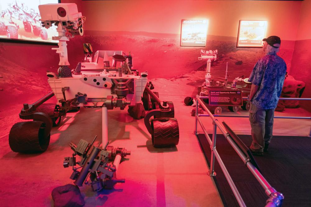 reisen zum Mars wird im Kennedy Space Center ein ganzer Themenbereich gewidmet. Foto: Thomas Limberg