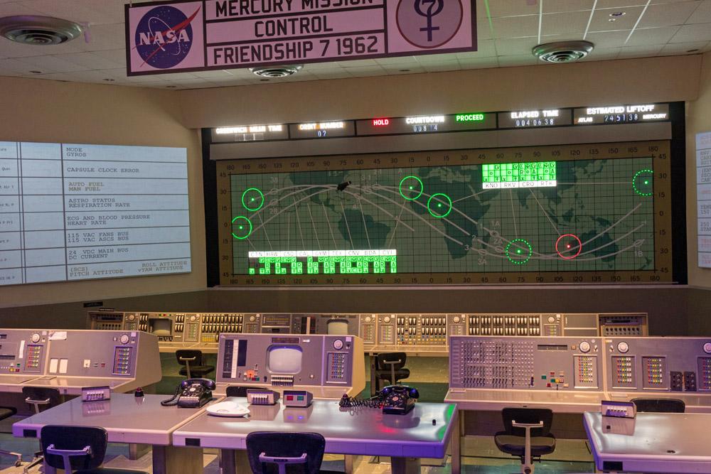Das Kontrollzentrum der Mercury Missionen