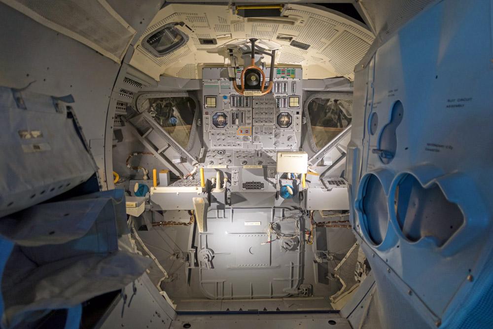 Besucher können im Kennedy Space Center eine original Mondlandefähre sehen und erfahren, wie eine solche von innen aussieht.