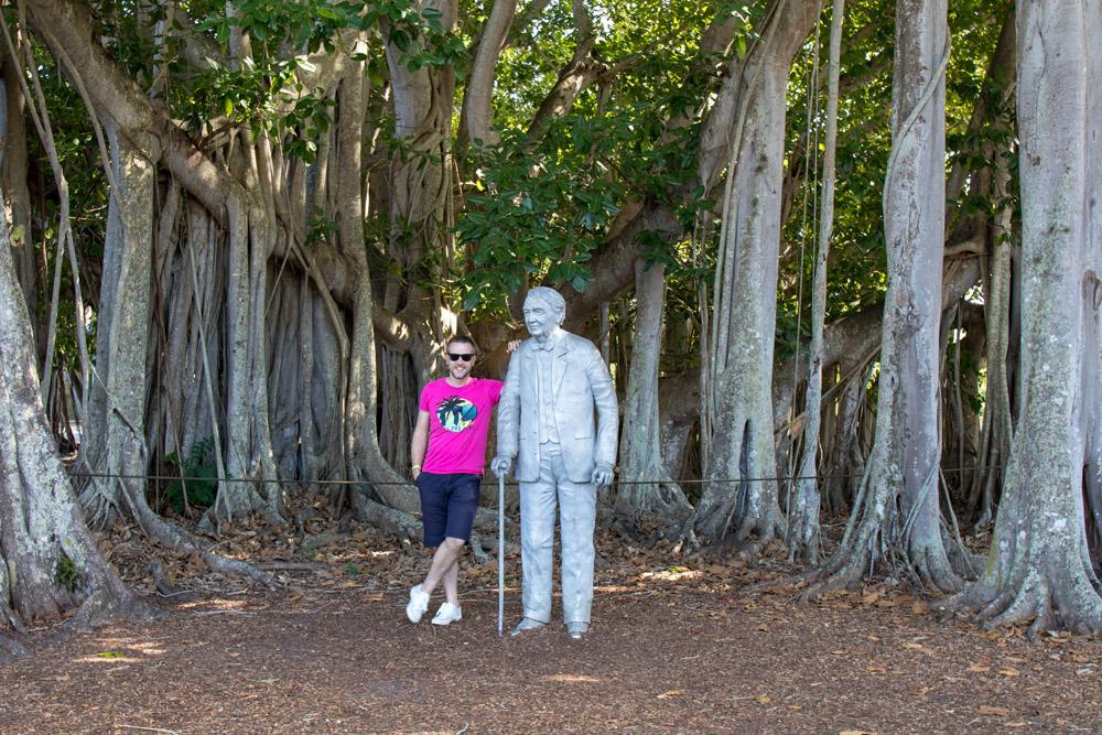 1925 pflanzte Thomas Alva Edison diesen Banyanbaum.
