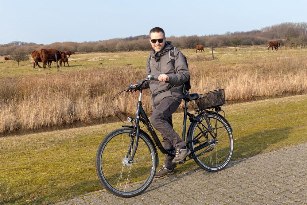 Mit dem Fahrrad lässt sich Borkum wunderbar erkunden.