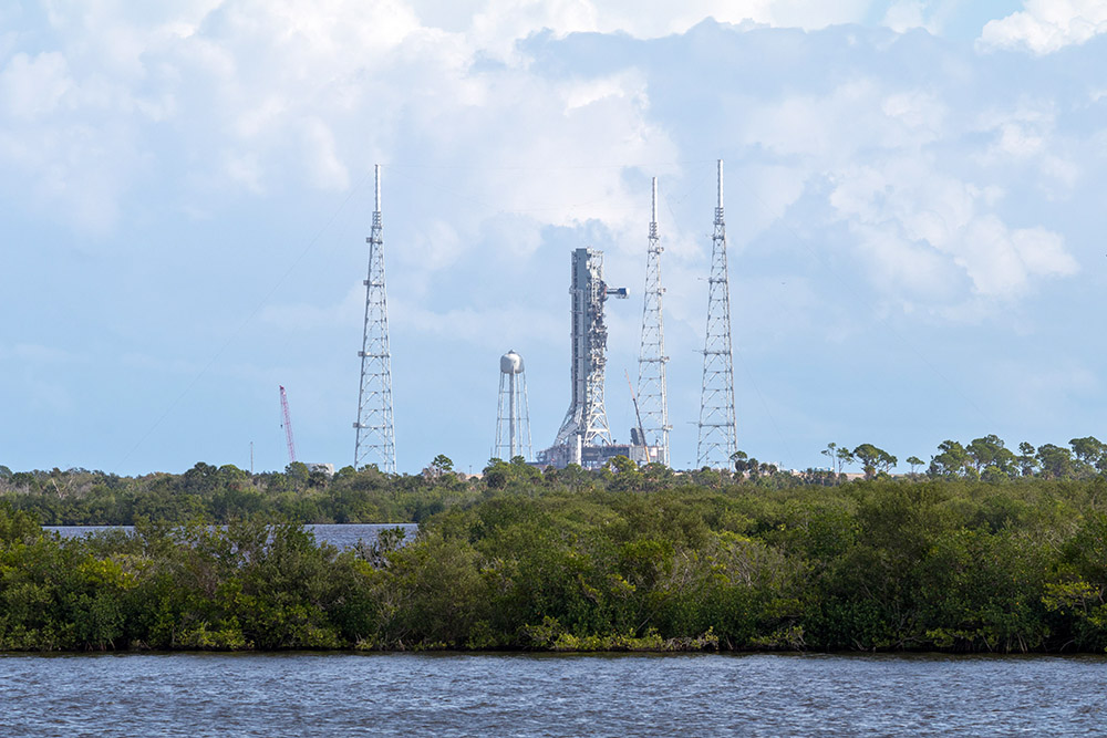 Vom Kennedy Space Center in Florida werde ich zur ISS starten