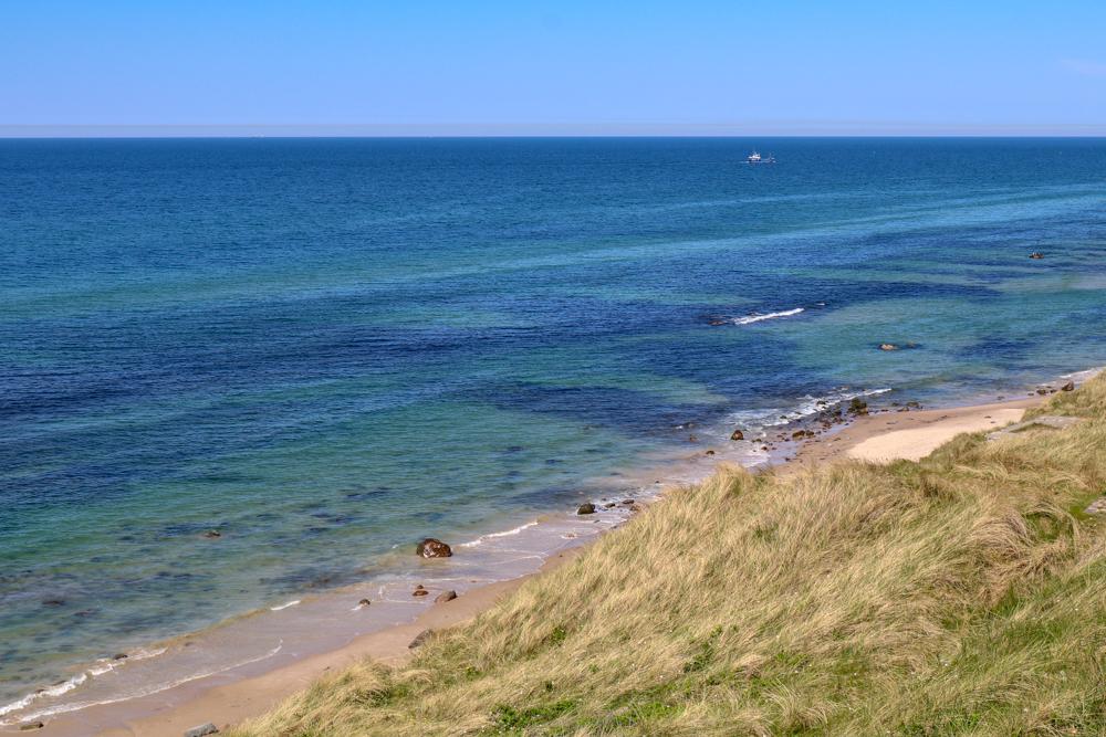 Aussicht vom Leuchtturm Hirtshals auf die Nordsee.