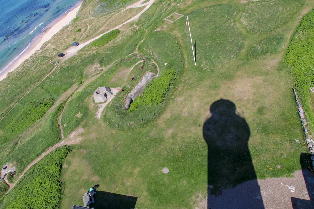 Vom Leuchtturm Hirtshals hat man eine wunderschöne Aussicht auf die Nordsee und das Bunkermuseum.
