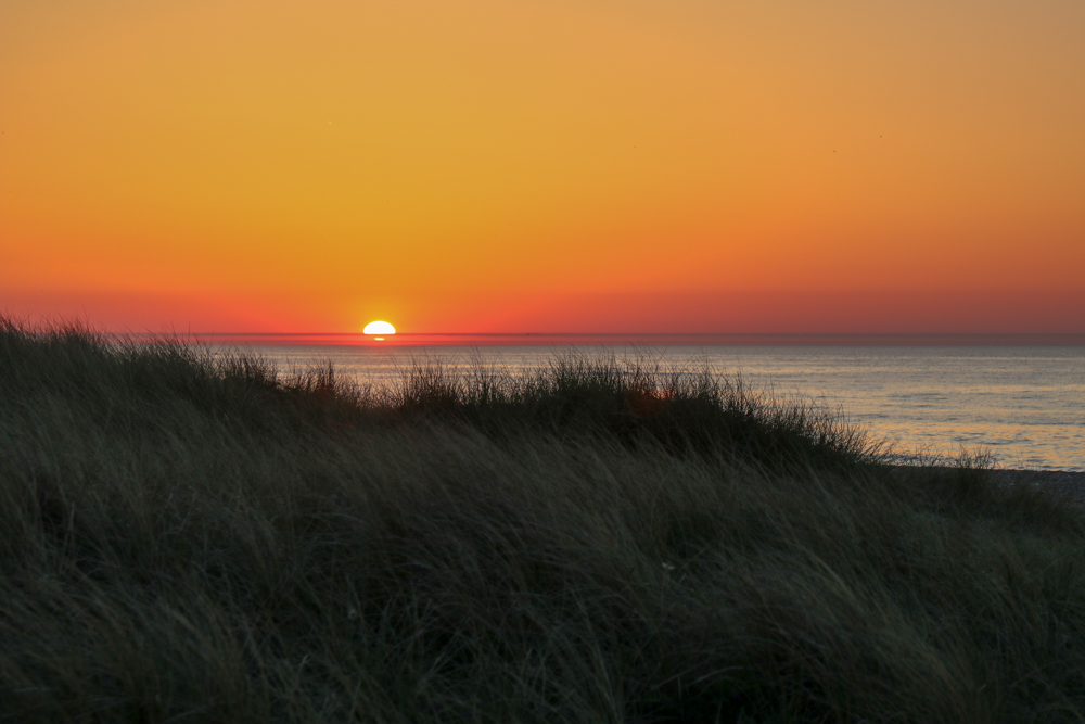 Sonnenuntergang in Thorup Strand